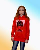 Кофта туника для девочек на рост 134-152