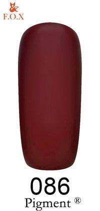 Гель-лак F.O.X Pigment 086 (оксид красный, эмаль),6 ml