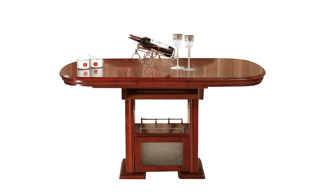 Раздвижной стол с полочкой Daming TS3-L8 (115/145) орех