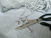 Шнур трикотажный диаметр 7 мм серый.