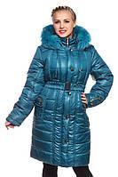 Стеганые женские пальто больших размеров