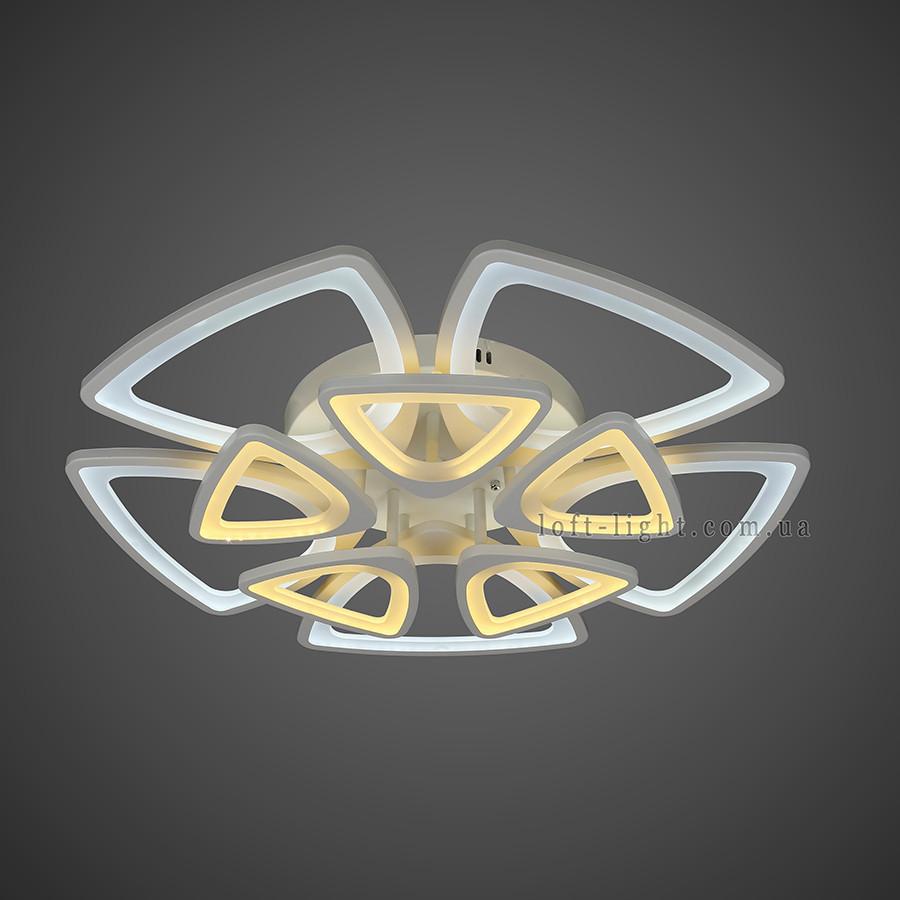 Люстра стельова світлодіодна 55-MX10006-5+5 WH LED