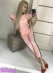 Костюм брючный элегантный с блузой + (2 цвета)