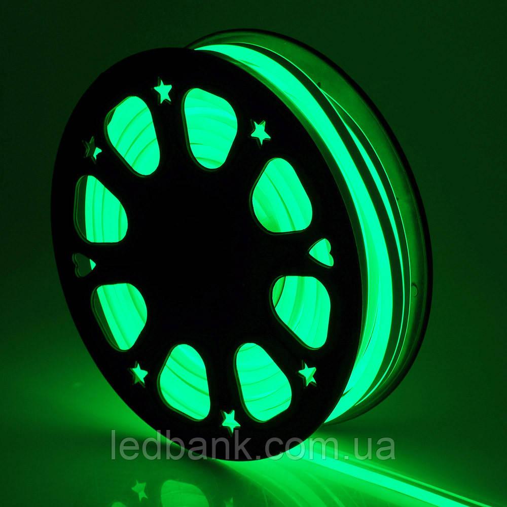 Светодиодный неон гибкий 12В 2835 120 LED Neon Flex IP65 Зеленый