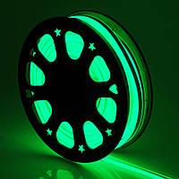 Светодиодный неон гибкий 12В 2835 120 LED Neon Flex IP65 Зеленый, фото 1