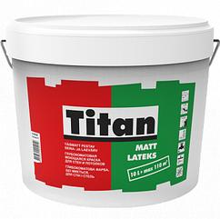 Латексная краска для стен и потолка Titan Mattlatex Eskaro 1л