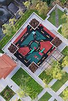 Создание узоров на резиновых покрытиях детских площадок