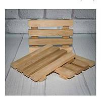 Мыльница деревянная простая, фото 1