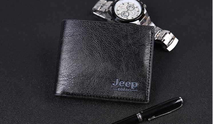Мужское портмоне Jeep Buluo чёрный кошелек