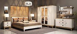 Спальня Бавария 4Д Мебус белый/дуб