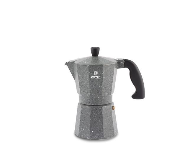 Кофеварка гейзерная Vinzer Moka Granito 89397 (на 3 чашки)