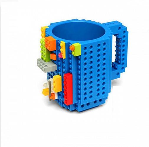 Чашка/Кружка конструктор Lego брендовая Голубая 400 мл