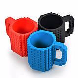 Чашка/Кружка конструктор Lego брендовая Голубая 400 мл, фото 3