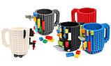 Чашка/Кружка конструктор Lego брендовая Голубая 400 мл, фото 4