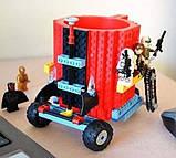 Чашка/Кружка конструктор Lego брендовая Голубая 400 мл, фото 6