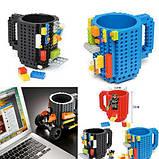 Чашка/Кружка конструктор Lego брендовая Голубая 400 мл, фото 7
