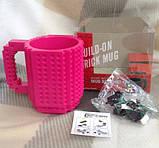 Чашка/Кружка конструктор Lego брендовая Голубая 400 мл, фото 8