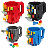 Чашка/Кружка конструктор Lego брендовая Голубая 400 мл, фото 9
