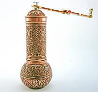 Ручная турецкая кофемолка 19х7см, цвет: медь