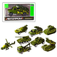 """Машинка - металлическая модель """"Военная техника"""" Автопром 7633"""