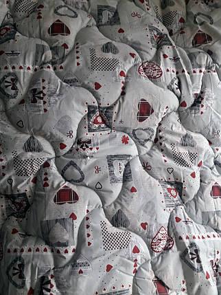 "Двуспальное шерстяное одеяло ""Сердце"" 172х205, фото 2"