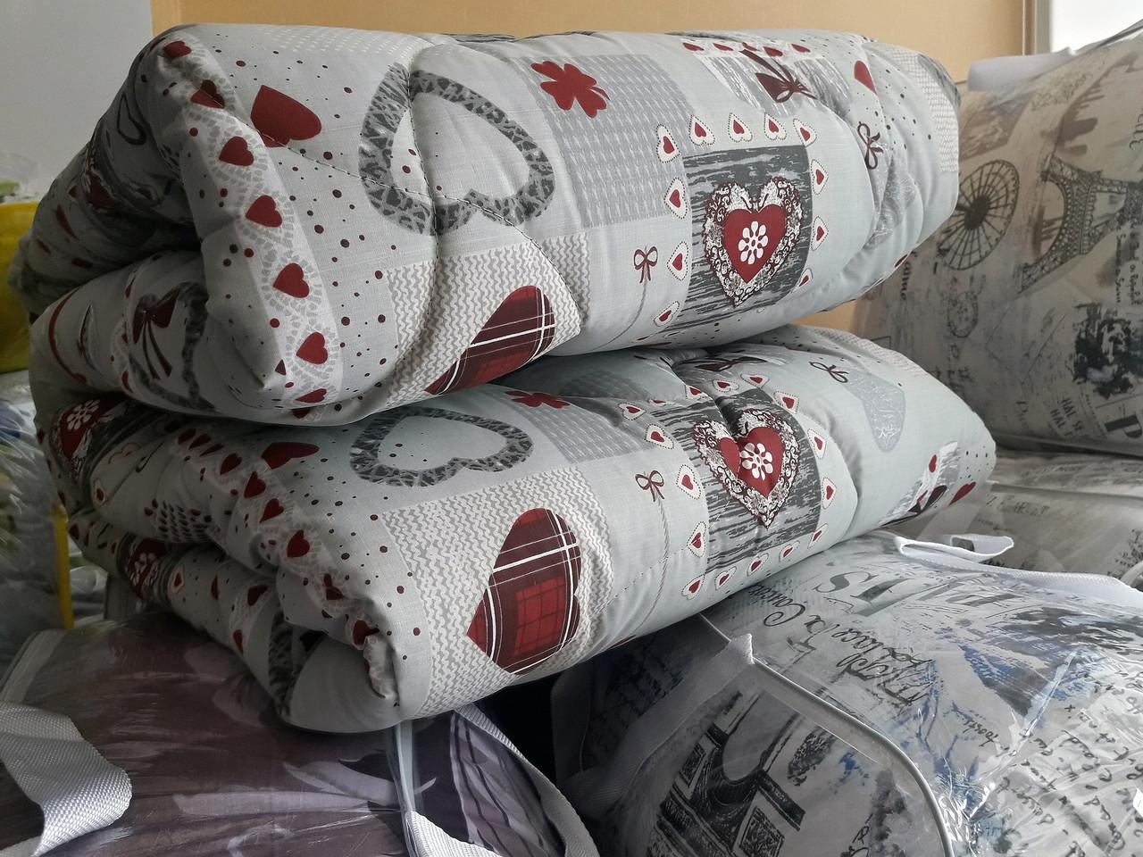 "Двуспальное шерстяное одеяло ""Сердце"" 172х205"