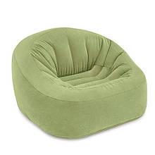 Велюр кресло 124*119*76см, оливковый, в кор. 36*31*14см, INTEX(3шт)