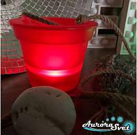 Горшок - кашпо, светодиодный. Светодиодный светильник. Производство Франция.