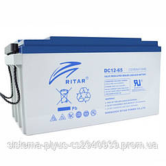 Аккумуляторная батарея AGM RITAR DC12-80, Gray Case, 12V 80Ah  ( 350 x 167 x 182 ) Q1