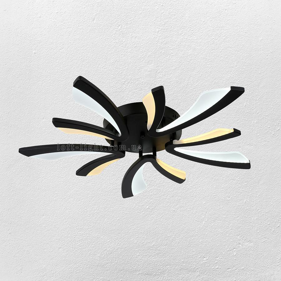 Люстра потолочная светодиодная  (модель  55-MX10012-5 BK LED )
