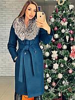Женское зимнее шерстяное  пальто с поясом  от 42 до 52 размера РАЗНЫЕ ЦВЕТА код. София