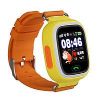 Детские умные смарт часы дитячий годинник Q90 Q100 Smart Baby Watch с GPS и  кнопкой SOS 8c1696375c24c