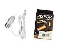 Автомобильное зарядное устройство Aspor A38C + кабель microUSB (2.4A, 1 USB), фото 3