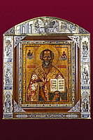 "Серебряная  Икона Святой Николай Чудотворец"", фото 1"