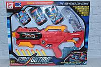 Помповое оружие с гелевыми пульками, присосками и банками-мишенями, в коробке, фото 1