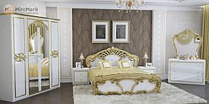"""Спальня """"Єва"""" від Миро-Марк (білий глянець, золото)."""