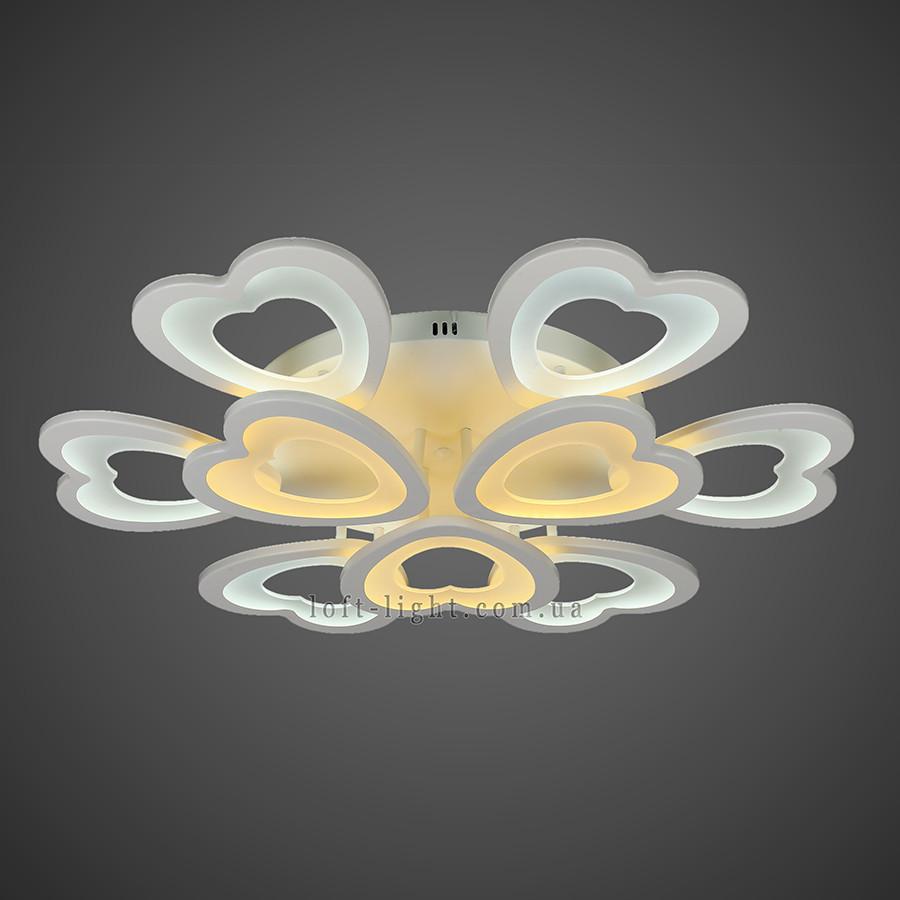 Люстра потолочная светодиодная   55-MX10013-6+3 WH LED