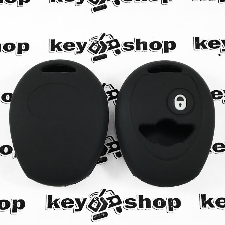 Чехол (черный, силиконовый) для авто ключа Mini (Мини) 2 кнопки