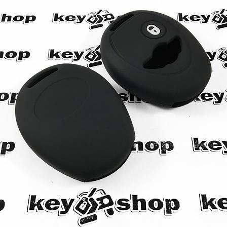 Чехол (черный, силиконовый) для авто ключа Mini (Мини) 2 кнопки, фото 2