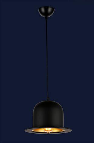 Светильник шляпа-котелок в стиле lolt черный + золото LV , фото 2