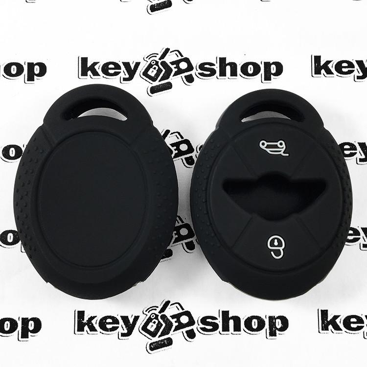 Чехол (черный, силиконовый) для авто ключа Mini (Мини) 3 кнопки