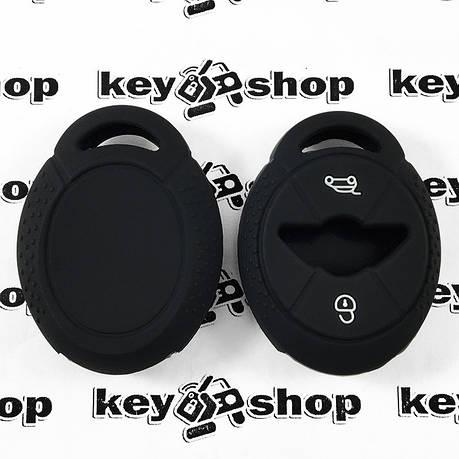 Чехол (черный, силиконовый) для авто ключа Mini (Мини) 3 кнопки, фото 2