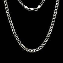 Срібна ланцюжок, 600мм, 20 грам, плетіння Бісмарк, чорніння, фото 2