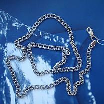 Срібна ланцюжок, 600мм, 20 грам, плетіння Бісмарк, чорніння, фото 3