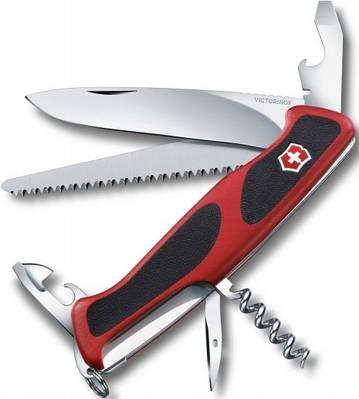 Складной практичный нож Victorinox RangerGrip 55, 09563.C красный
