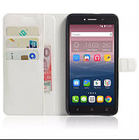 Чехол-книжка Litchie Wallet для Alcatel One Touch Pixi 4 8050D Белый