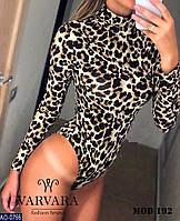 Женское леопардовое БОДИ Трикотажное , фото 1