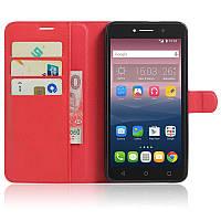 Чехол-книжка Litchie Wallet для Alcatel One Touch Pixi 4 8050D Красный
