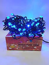 Новогодняя гирлянда Штора 120 ламп Синяя