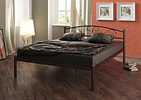 Кровать металлическая Классика 160*200 шоколад